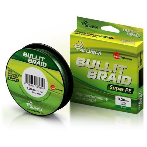 Леска плет. Allvega Bullit Braid dark green 0.14 92м